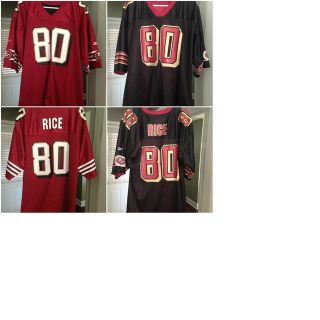 Jerry Rice Official Reebok 49ers Reversible Jersey