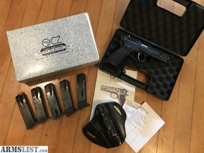 For Sale: CZ75 BD Police 9mm with Dillon holster, 5 mags
