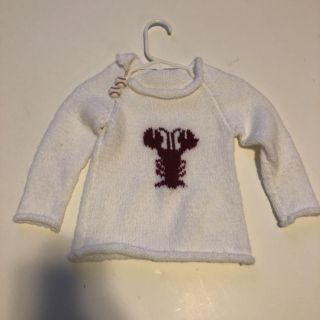 Kids Hand-Knit Lobster Sweater- size 2T