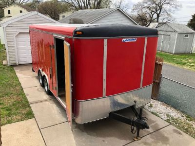 2003 United Enclosed Trailer in a hard to find size 18'X8'fo