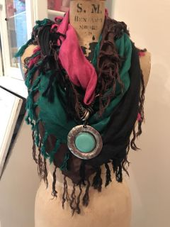 New Infinity Scarf with Stone!!! Great for Rodeo
