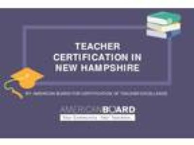 Online teaching certificate in New Hampshire