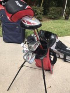 Youth golf clubs w/ 2 drivers