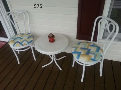 Porch Table And Two Chairs