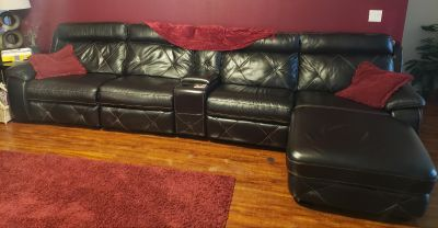 5pc leather couch