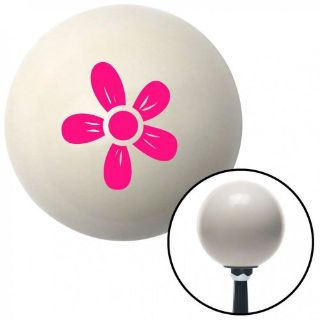 Sell Pink Hawaiian Flower #2 Ivory Shift Knob with 16mm x 1.5 Insertstyle cover motorcycle in Portland, Oregon, United States, for US $29.97