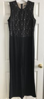 Full length lace top jump suit
