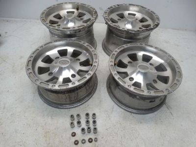 Buy 2005 Polaris Sportsman 700 ATV 12x6 12x8 Front & Rear Rims Wheels motorcycle in West Springfield, Massachusetts, United States, for US $199.99