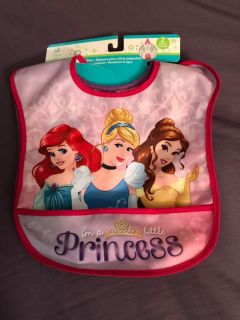 Disney princess 2pk bibs brand new $4.00, located in Bethlehem. Cross posted.