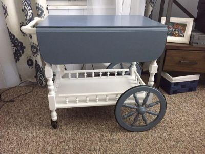 Antique tea cart. Newly painted.