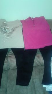 Size 7/8 tops and 8 in bottoms