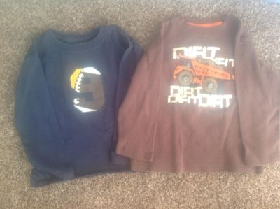 Two boys long sleeve t-shirts 4T