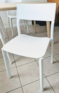IKEA Janinge dining chairs, white, stackable
