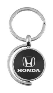 Find Black Honda Logo Brushed Metal Round Spinner Chrome Key Chain Spin Ring motorcycle in York, Pennsylvania, United States