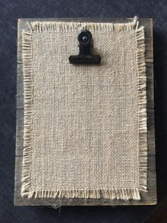 Wooden 4 X 6 Clipboard Picture Frame