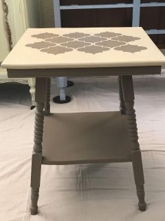 Table (refurbished antique side table)