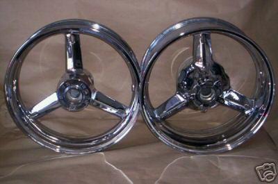 Sell Suzuki Hayabusa, GSXR chrome Wheels rims motorcycle in La Mirada, California, US, for US $490.00