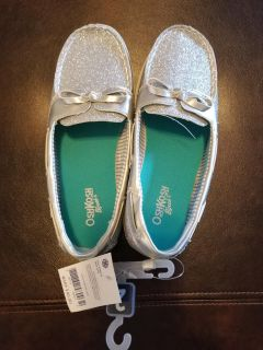 Brand new silver sparkle shoes girls size 2