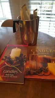 Candle making supplies & 2 candles books