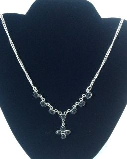 New! Sterling Silver 925 Necklace w/ Black onyx