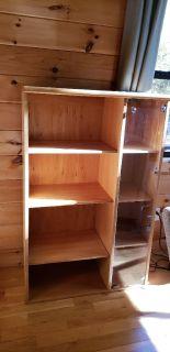 Pair of cabinet storage display shelves