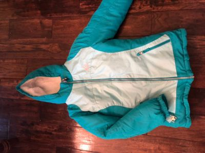 Girls size 10/12 winter coat with zip out liner. Super warm.