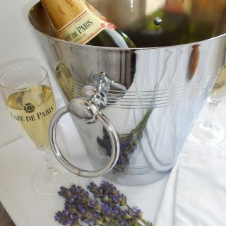Large, Heavy Vintage French Champagne Ice Bucket.