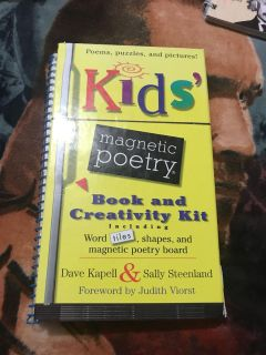 Magnetic poetry book