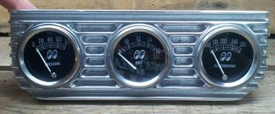 Purchase VTG STYLE MOON 3 GAUGE SET FINNED UNDER DASH PANEL HOT ROD DRAG RACING LOWRIDER motorcycle in Sacramento, California, United States