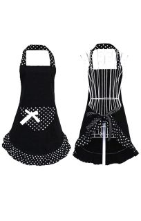 Black and white apron - new in package