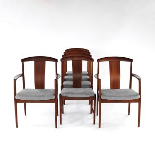 RARE Folke Ohlsson Dining Chairs Set of 6 in Teak