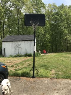 Basketball goal. Got it on here about 2 years ago. Kids don t use it. In good condition. This needs to go quickly or it may go to dump.