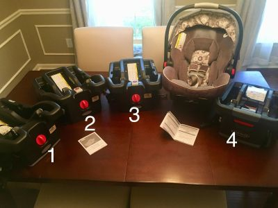 Graco SnugRide Click Connect 35 Car Seat with 4 bases