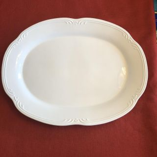 Pfaltzgraff Gazebo White Oval Large Serving Platter