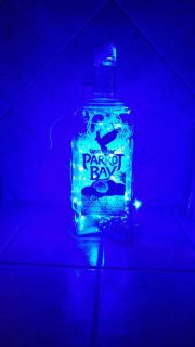 Lighted Rum bottle