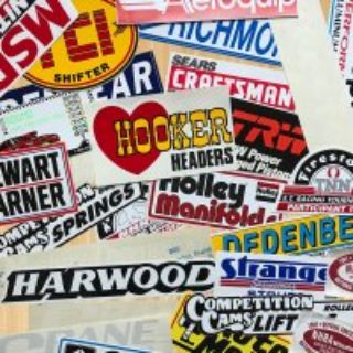 Hot rod, drag race sticker packs