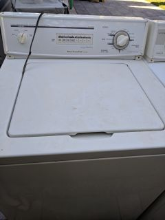 Used washer and dryer Kitchen Aid as is. Working and needs a good clean.