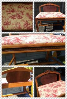 Vintage Dresser Chair-Vanity Bench