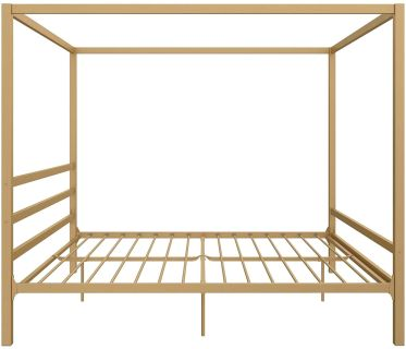 King Size Gold Canopy Bed
