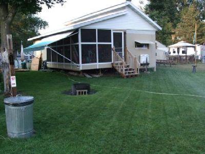 Trvl Trailer Set-Up on Permanent Lot