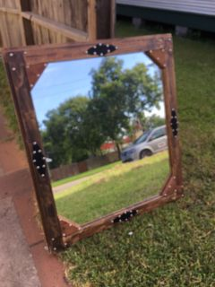 Rustic mirror 37 x41 asking $110.00