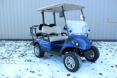 2014 Yamaha Drive Electric Golf Car Cart, Tanzanite Blue