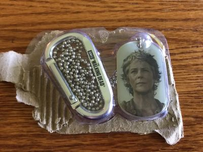 Walking dead dog tag necklaces and clip