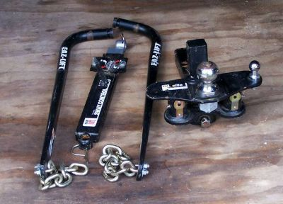 Heavy Duty Weight Distributing Distribution Hitch Sway Bar Towing Kit