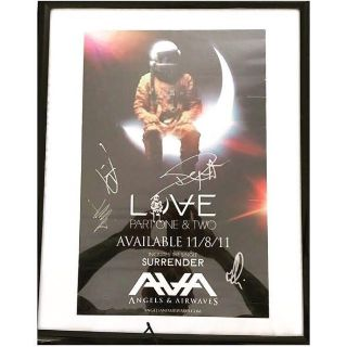 Angels and Airwaves Signed Poster