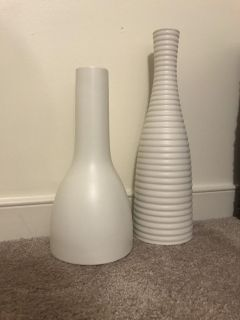 Two white vases from ikea
