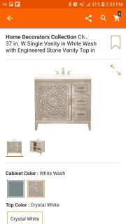 37 in home decorator collection vanity ,with mirror