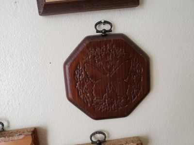Wood butterfly wall hanging