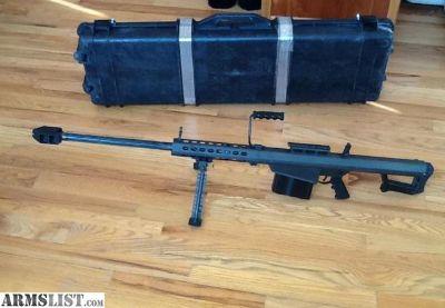 For Sale: Barrett M82A1 .50BMG Semi-auto in hardcase