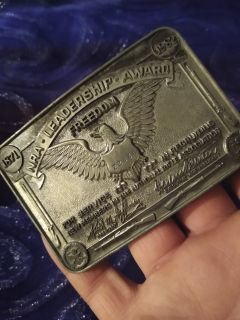 NRA Leadership Award Belt Buckle from 1983!!